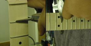 Mätning av halsens tjocklek 1:a band och 12:e band