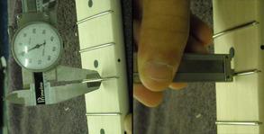 Mätning av bandens bredd och höjd