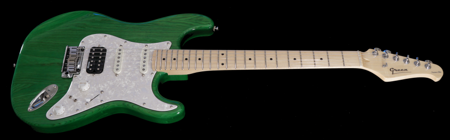 Trans Green - version 4 with Maple fingerboard