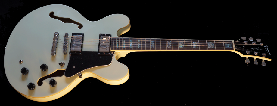 With Pearl Inlays on fingerboard