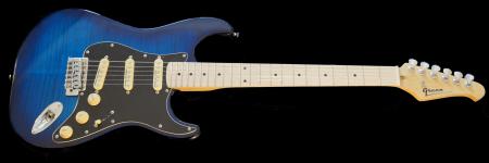 Chicago Blue Burst - black pickguard