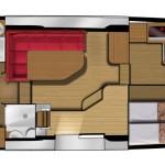 Layout 4 kabiner