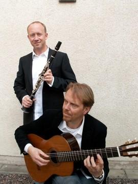 Dan Larsson clarinett, Magnus Gronlund guitar