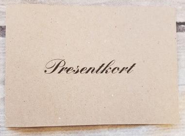 Presentkort - Presentkort