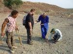 Fältarbeten i Namibia