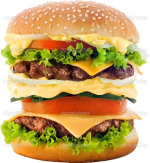 Mkt stor hamburgare