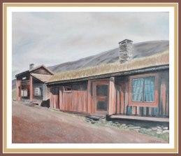 Oljemålning med motiv från Röros