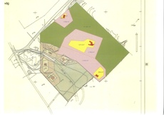 Byggrätter. Kartan visar halva fastigheten