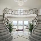 Design © Arkitekt Pål Ross Villa Casa Blanca interior staircase