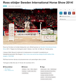 Sweden International Horse Show 2014