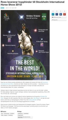Stockholm International Horse Show 2013!