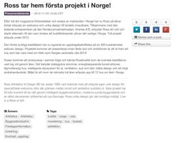 Projekt i Norge!