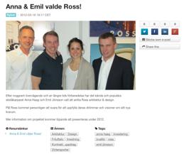 Anna Haag och Emil Jönsson väljer Ross!