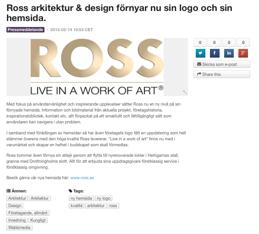 Ross förnyar sin hemsida!