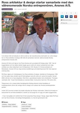 Ross startar samarbete med Ansnes i Norge!