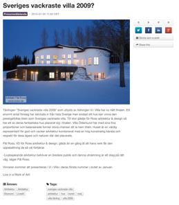Sveriges vackraste villa 2009