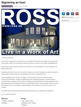Ross signerar sina konstverk!