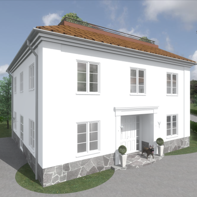 Design © Arkitekt Pål Ross - Villa Klassic entré