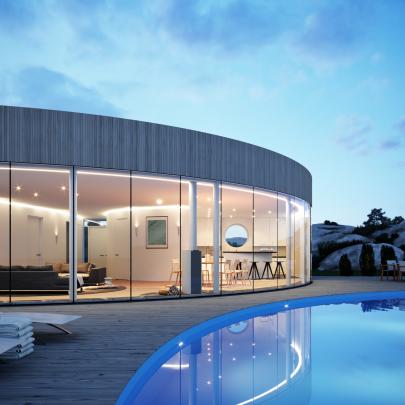 Med träpanel Design © Arkitekt Pål