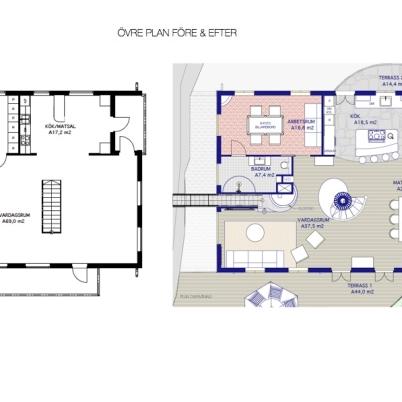 Villa Lycka ÖV, före & efter