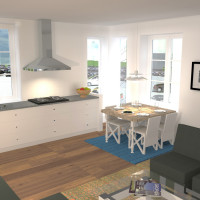 Design © Arkitekt Pål Ross - Lägenhetskomplex interiör