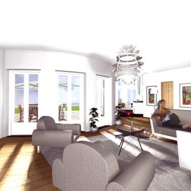 Design © Arkitekt Pål Ross - Villa Mälaren Vardagsrum