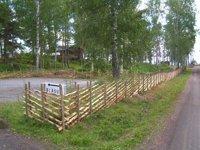 Nytt staket längs Blåsutvägen