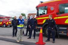 Räddningstjänsten på plats