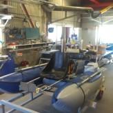 Bellyboat med elmotor.