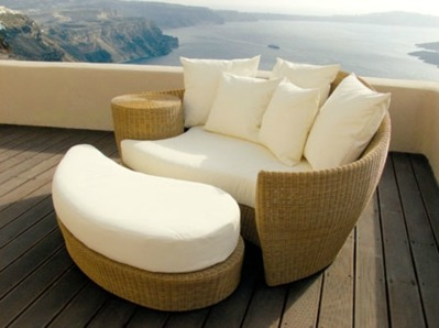 Furniture in rattan