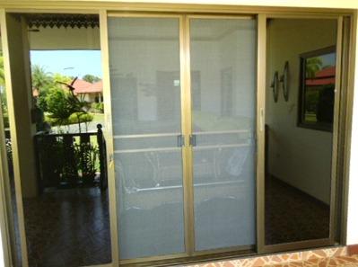 Myggdörrar installerade i 1-plansvilla