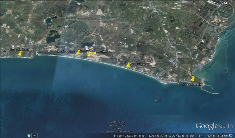 Mae Phim beaches och en del olika svenskprojekt