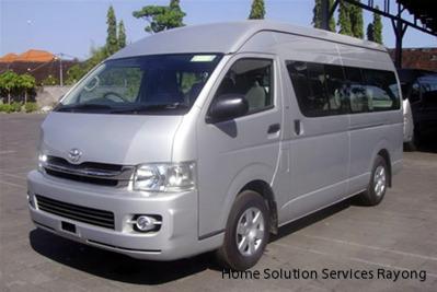 Transfer i minibuss Bangkoks flygplats till Ban Phe, 3,000 THB