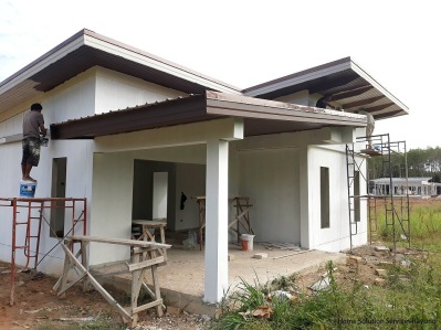 House Joy under construction