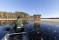 Flytgömsle fiskande tranor