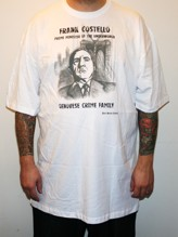 FRANK COSTELLO Tall tee - white (M - 6XL)