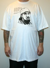 OMAR LITTLE (THE WIRE) Tall tee - white (L - 6XL)