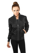 Urban Classics: Ladies Basic Bomber Jacket - black (S)