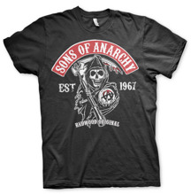 SONS OF ANARCHY: Redwood Original Red Patch T-Shirt (Black)