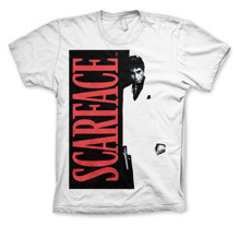 SCARFACE Poster T-Shirt (White) (XL)