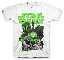 STAR WARS: Vintage Boba Fett Unisex T-Shirt (White) (XL)