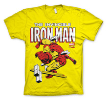 IRON MAN: The Invincible Iron Man Unisex  T-Shirt (Yellow)