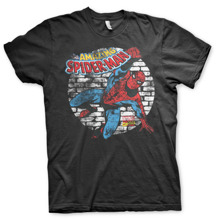 SPIDER-MAN: Distressed Spider-Man T-Shirt (Black)