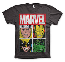 Marvel Distressed Characters T-Shirt (D.Grey)