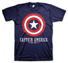 MARVEL´S AVENGERS: Captain America Logo T-Shirt (Navy)