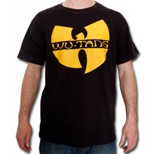 Wu-Wear: Wu-Tang Clan Logo T-Shirt - black/yellow (S, M)