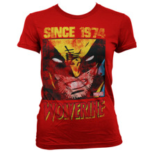 MARVEL: Wolverine Since 1974 Girly Tee (Red)