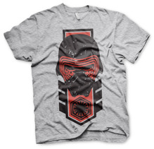 STAR WARS: Kylo Ren Distressed Unisex T-Shirt (H.Grey)