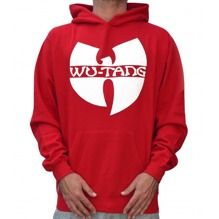 Wu-Wear: Wu-Tang Clan Logo Hoodie - red/white (M)