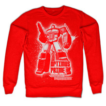 TRANSFORMERS: Optimus Prime Splatter Sweatshirt (Red)